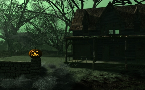 Horror-House-Pumpkin-Wallpaper